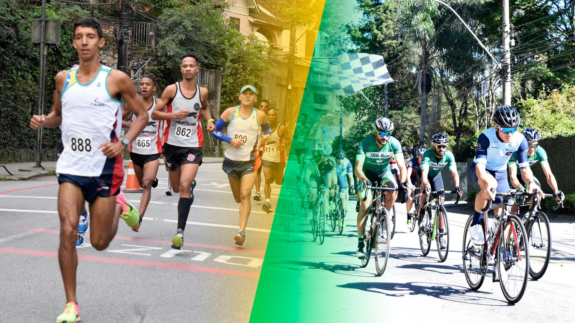 Domingo intenso com duas provas em Petrópolis: corrida e ciclismo