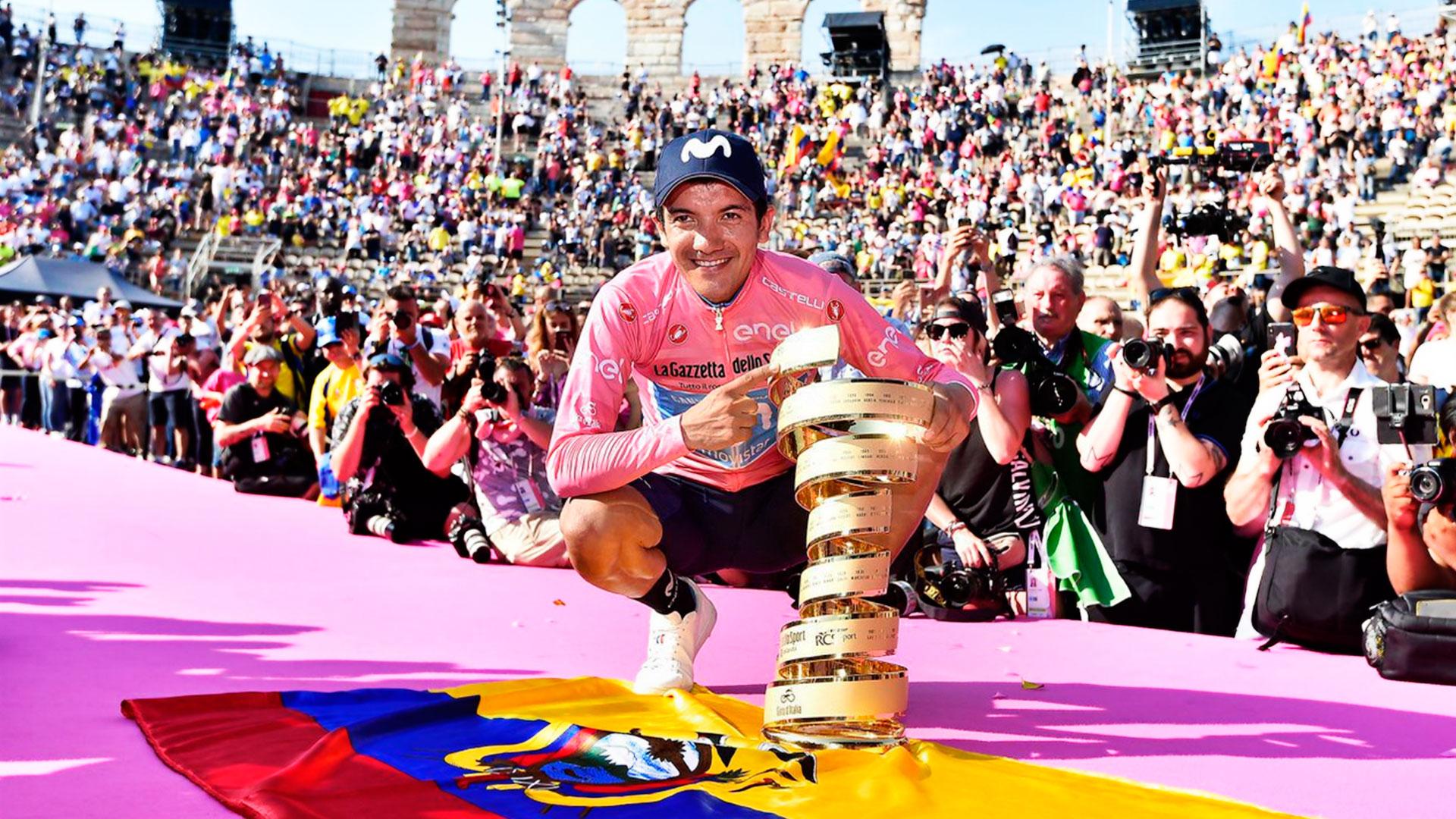 Richard Carapaz é campeão do Giro d'Italia 2019